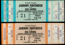 2 Rare Unused Johnny Paycheck Red Sovine Country Music Concert Tickets Apr 1978