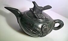 JAPANESE/CHINESE CARVED HARDSTONE TEAPOT