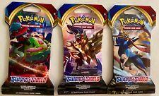3 Pokemon TCG Card Packs: Three Sword & Shield (2020) Sealed Blister Packs