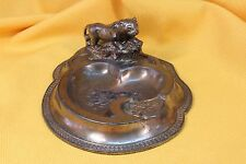 Cenicero modernista con pantera. S.XIX. Modernist ashtray with panther