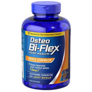 Osteo Bi-Flex Triple Strength 200 Tablets, Glucosamine,Chondroitin,MSM,Vitamin C