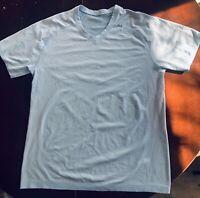 Lululemon Mens Metal Vent Tech shorts sleeve size L Angel Blue V Neck Large