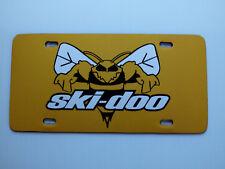 Vintage Ski Doo Bee Snowmobile Logo Novelty License Plate