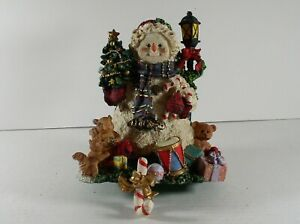 Snowman Stocking Holder Grandeur Noel Collectible Hand Painted Christmas