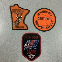 Hunting Shooting Minnesota Deer Hunters Assn Firearms Patches Patch Lot of 3