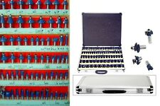 "160pc 1/4"" and 1/2"" Shank Router Bit Set w/ Cases 3 Blade Tungsten Carbide NEW"
