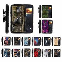 For Samsung Galaxy S5 Rugged Hybrid Holster Belt Clip Case Armor Kickstand