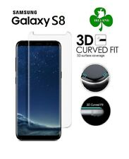Tempered Glass Screen Protector for Samsung Galaxy S8 Curved Full Cover 3D