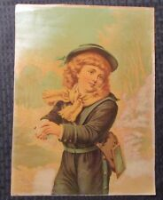 1873 H. Hallett & Co. 10x14 Print HURRAH FOR THE SNOW VG/FN 50