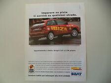 advertising Pubblicità 1998 SEAT IBIZA