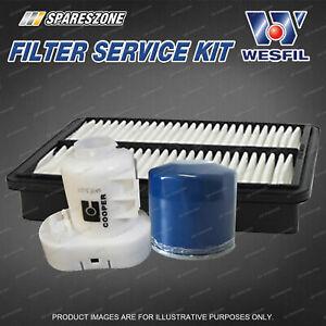 Wesfil Oil Air Fuel Filter Service Kit for Kia Sportage KM 2.0L 2.7L