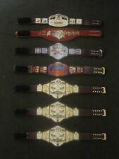 7 Custom Wrestling Figure Belts NWA WCW WWE WWF NXT(Action figure not included)