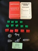vintage monopoly Spare Parts,5 Vintage Tokens, full set deeds & some house/hotel