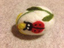 Needle Felted Easter egg. Easter decoration. .'Ladybirds'- OOAK