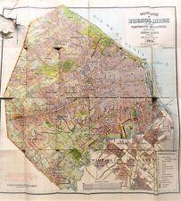 Municipio de Buenos-Aires Argentina old map 1920