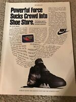 official photos eccda 56155 Vintage 1993 NIKE AIR FORCE MAX Basketball Shoes Poster Print Ad 1990s RARE