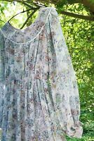 Vintage Baby Blue Floral Prairie Maxi Dress Size 6 Vampires Wife Vibe