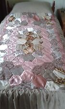 hand made vintage patchwork bedspread -single