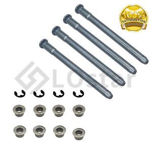 Door Hinge Pins + Pin Bushing Kit For 88-02 Chevy GMC Fullsize Truck 2 Door 5.7L
