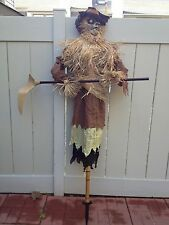 ANIMATED TALKING HEAD MOVES EVIL SCARECROW HARVESTER of SOULS HAUNTED PROP