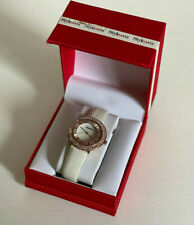 NEW! STYLE & CO ROSE GOLD BAND W/CRYSTALS WHITE STRAP BRACELET WATCH SC1358 SALE
