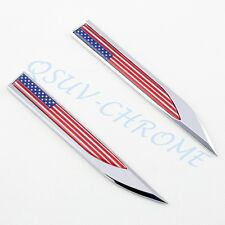Car Truck Accessories Badge Emblem Logo Sticker US Flag Blade Style Decor Parts