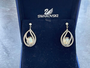 Genuine SWAROVSKI® Pierced dangly earrings in original box