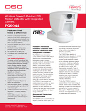 DSC PG9944 PowerG Wireless Outdoor PIR Motion Detector with Built-In Camera