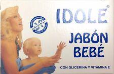 Idole Savon BeBe Jabon BeBe Baby Soap with Glycerine and Vitamin E 75g
