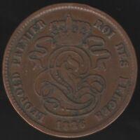 1836 Belgium 2 Cents Coin | European Coins | Pennies2Pounds