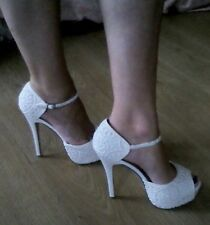New Look Women's Textile Strappy, Ankle Straps Stiletto Shoes