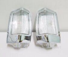 PAIR CHROME CORNER INDICATOR LIGHT FOR NISSAN NAVARA D21 HARDBODY 1993-97 BDI925