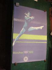 "Original Vintage Poster: OLYMPICS MUNCHEN (MUNICH) 1972 GYMNASTICS 33 X 23 1/4"""
