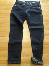 GAP 1969 ORIGINAL FIT Rinsed Selvedge Buttonfly Jeans Sz 28/6r Relaxed Look (F