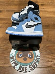 NEW! Air Jordan 1 Retro High OG TD University Blue UNC Size 7C [AQ2665-134]