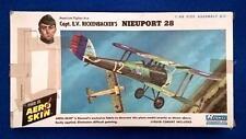Renwal Eddie Rickenbacker Nieuport 28  1/48 with Aero Skin From 1967  RARE