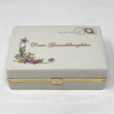 2005 Ardleigh Elliott Heirloom Porcelain Music Box Dear Granddaughter B5941