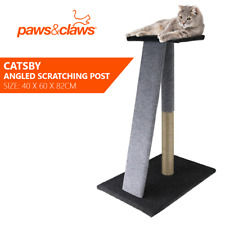 Paws & Claws Catsby 82cm Angled Scratching Post Cat Pet Furniture Tower Cool GRY