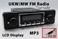 Retrosound Laguna TRIM 1-DIN Oldtimer Radio AUX-IN MP3 Komplettset L502C080040