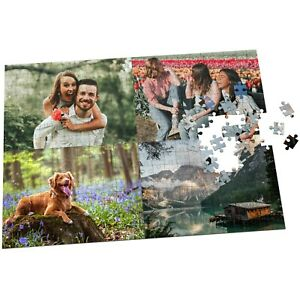 Custom Photo Collage Jigsaw Puzzle 300 Piece Personalised Picture with Box Gift