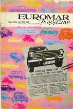 Documentation commerciale - EUROMAR MAGAZINE - 1968  - Accessoires automobile