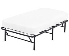 Twin Size Platform Bed Frame Mattress 14 Foundation Portable Folding Marco Cama