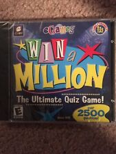 Egames Win a Million The Ultimate Quiz Game PC NEW & SEALED Windows 95/98
