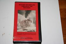 VHS VIDEO TAPE TITLED:  ROTARY SNOW PLOW THROUGH THE ROCKIES   SHOWS SLIGHT USE