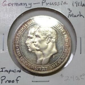Germany Trio of Silver Empire Coins NO RESERVE