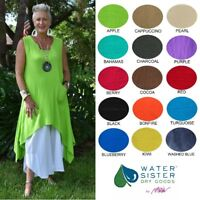 WATERSISTER Cotton Gauze ZINNIA TANK Tunic Long Layer 1(S/M) 2(L/XL) 2017 COLORS