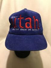 1c9133c9af6 Vintage Ski Utah The Greatest Snow On Earth Corduroy Snapback Hat Cap