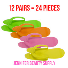 12 PAIRS (24 PIECES)  DISPOSABLE FOAM PEDICURE SLIPPERS ( FOLDING TYPE) | USA