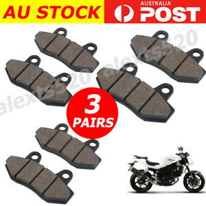 3 PAIRS Front Rear Brake Pads FOR HYOSUNG GT650 GT 650 R X S AU
