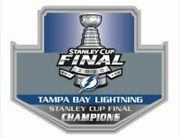 2020 TAMPA BAY LIGHTNING CHAMPIONS PIN NHL STANLEY CUP FINAL / PUCK IN STORE
